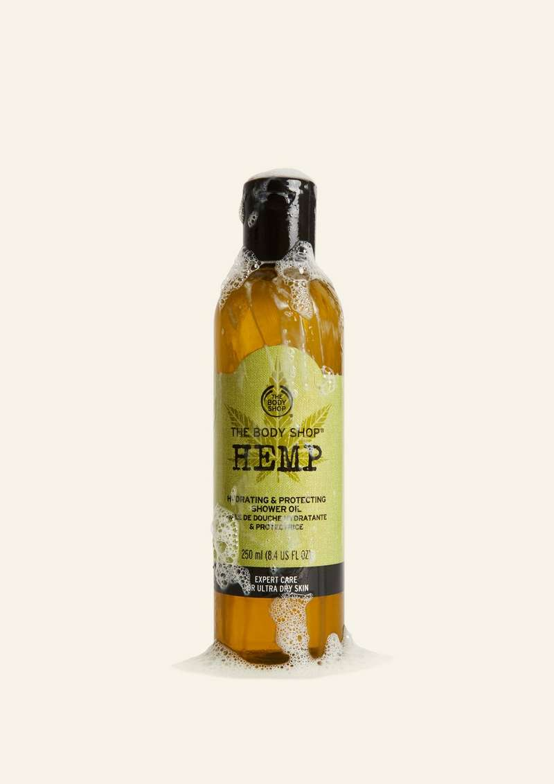 Hemp shower oil product
