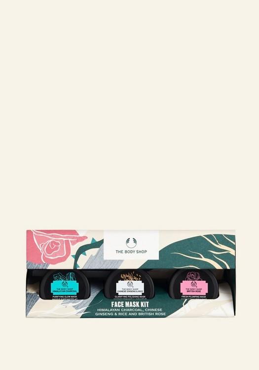 Himalayan Charcoal, Chinese Ginseng & Rice And British Rose Face Mask Kit