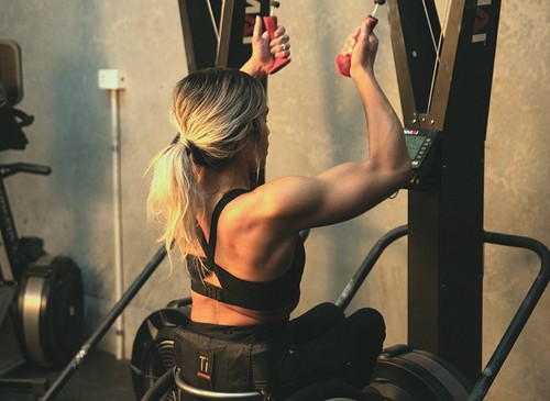 Madison working out
