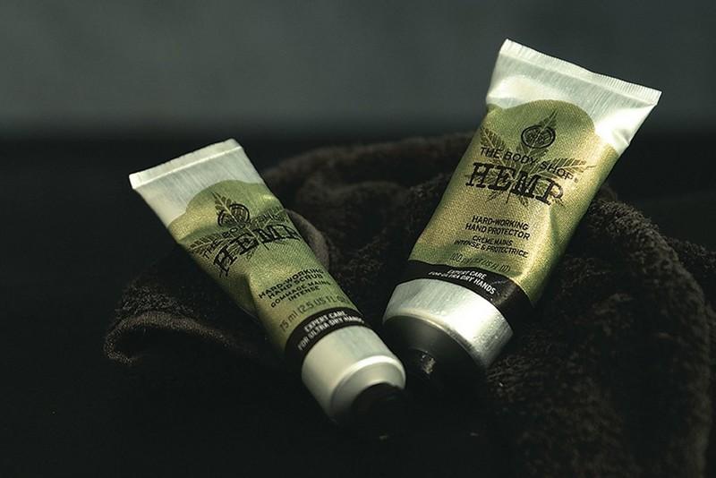 Hemp products on towel