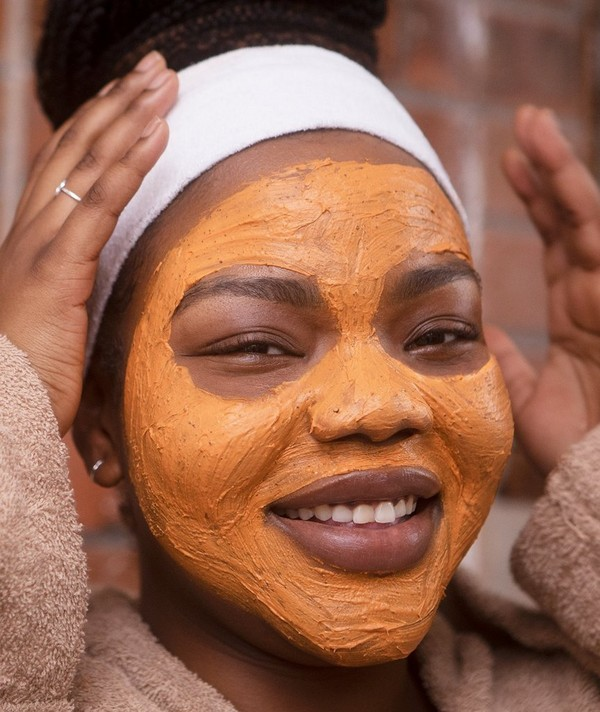 Person wearing face mask