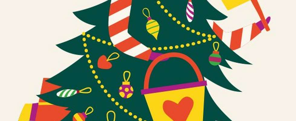 Illustration eines Weihnachtsbaums