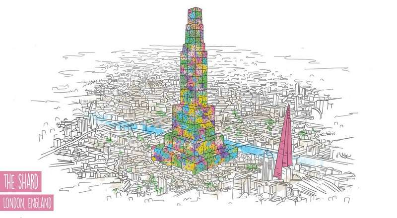 Drawing of the Shard in London