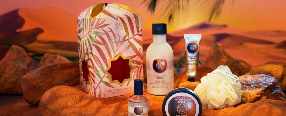 Vitamin C skincare range in desert setting