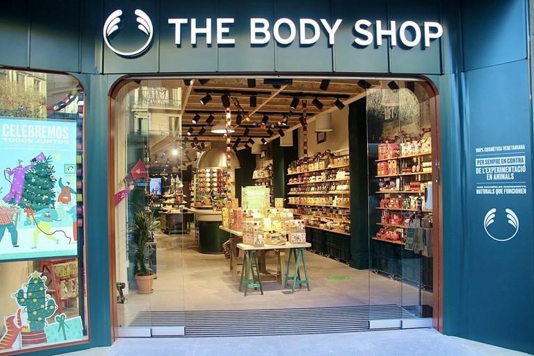 Exterior de la tienda de The Body Shop en la calle Pelayo en Barcelona
