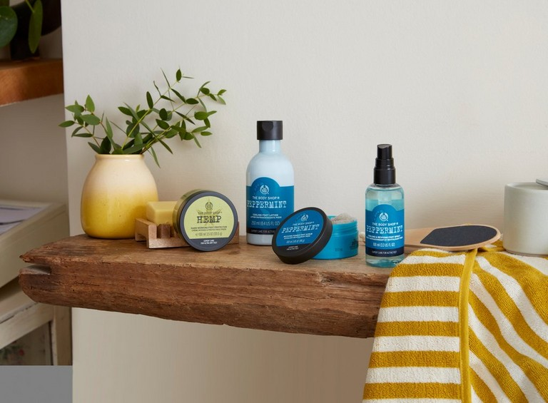 Peppermint foot care range