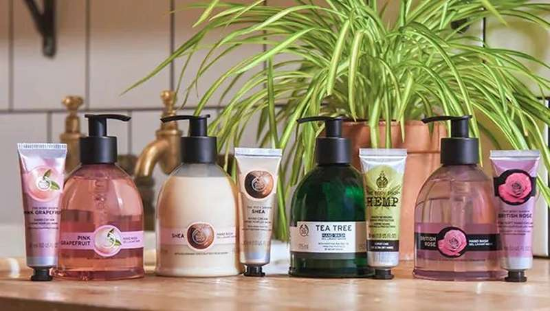 Hand washes and hand creams from The Body Shop