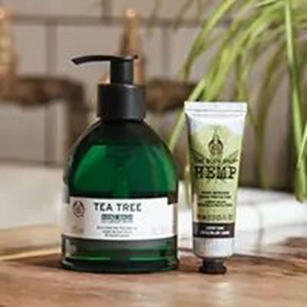 The Body Shop Tea Tree and Hemp products