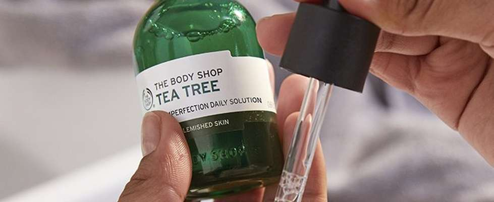 Tea Tree Solution being applied to palm of my hand