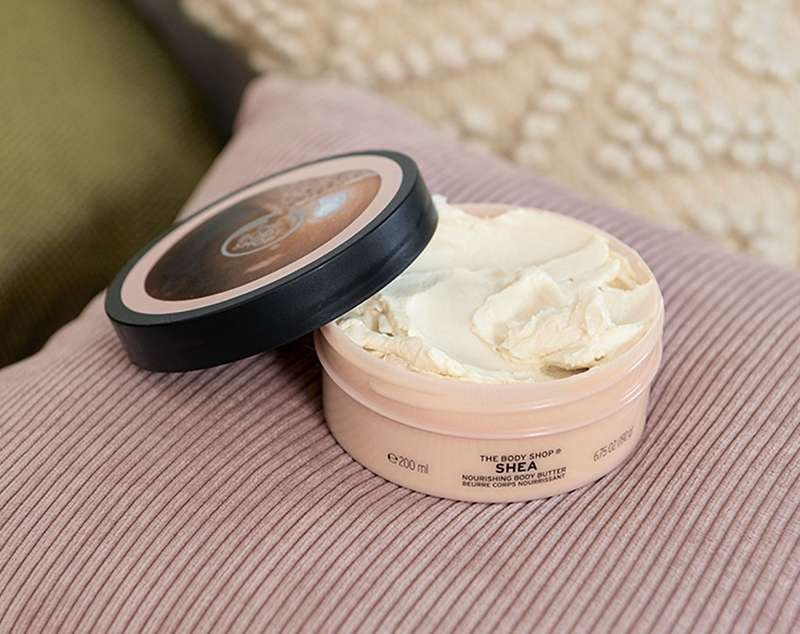 Shea Body Butter with the lid off