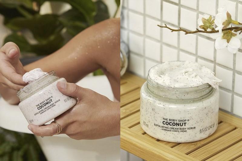 Coconut scrub application