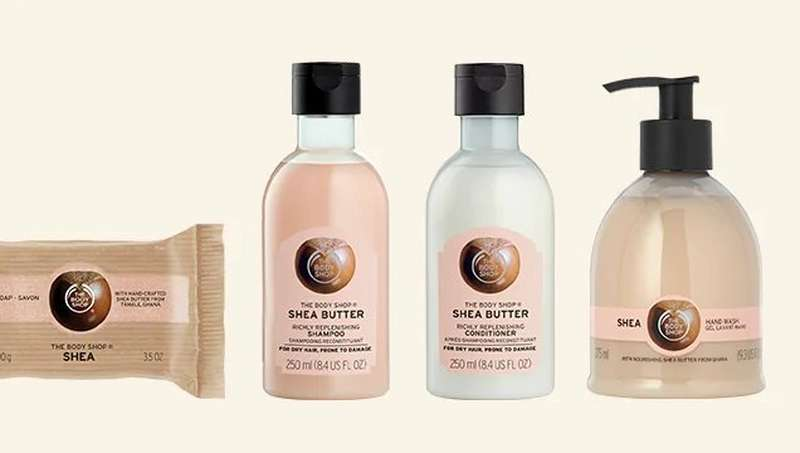 THE BODY SHOP SHEA BUTTER RANGE PRODUCTS
