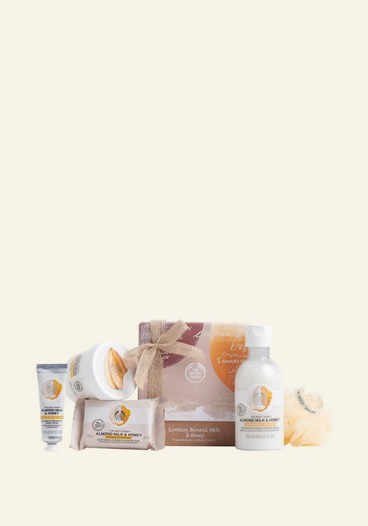 Soothing Almond Milk & Honey Pampering Essentials