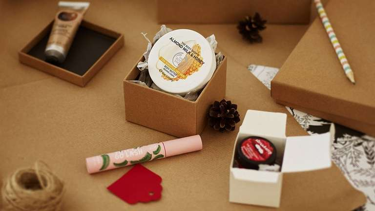 Regalos The Body Shop en cajas reutilizables