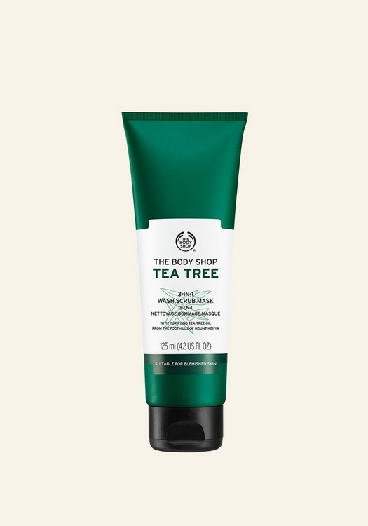Tea Tree 3-in-1 Wash Scrub Mask 125ml