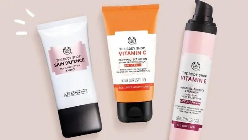 Productos con factor de protección solar de The Body Shop