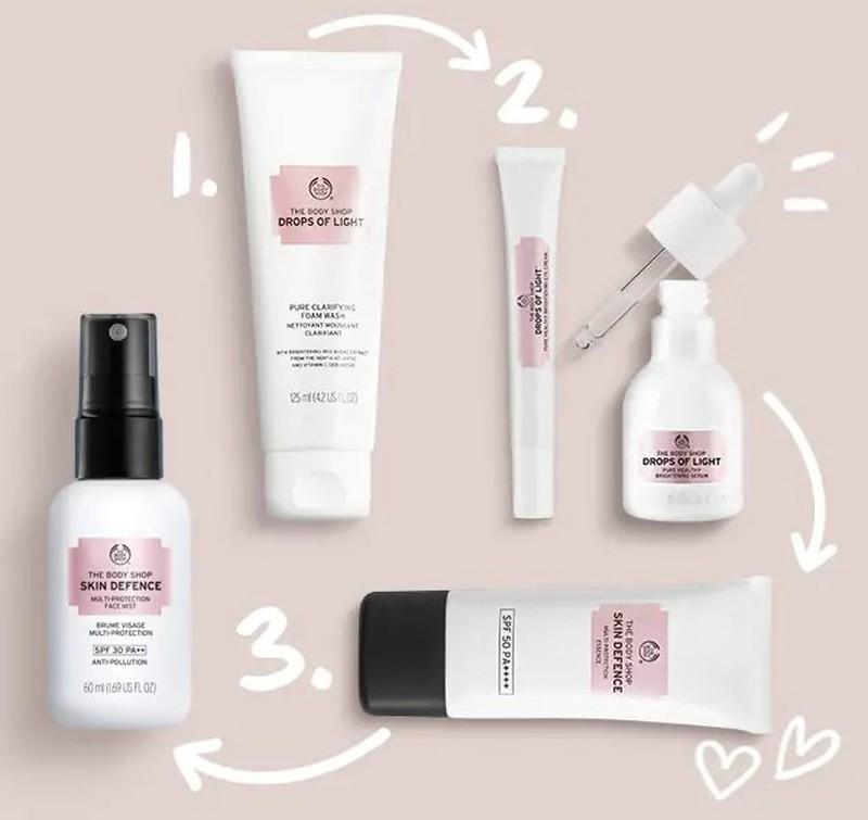 Productos Drops of Light de The Body Shop
