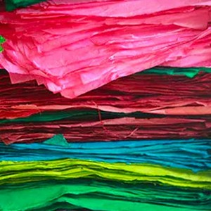 stacks of coloured paper