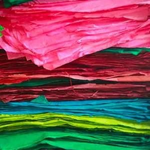 Papel de regalo de varios colores