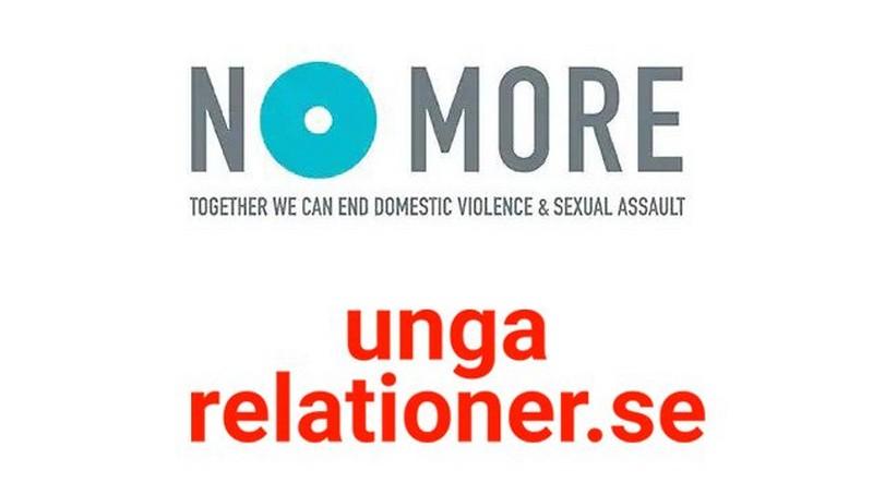 No More and Unga Relationer logos