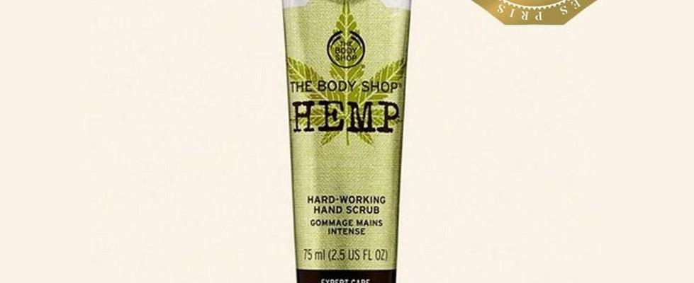 Hemp scrub product with Daisy award logo