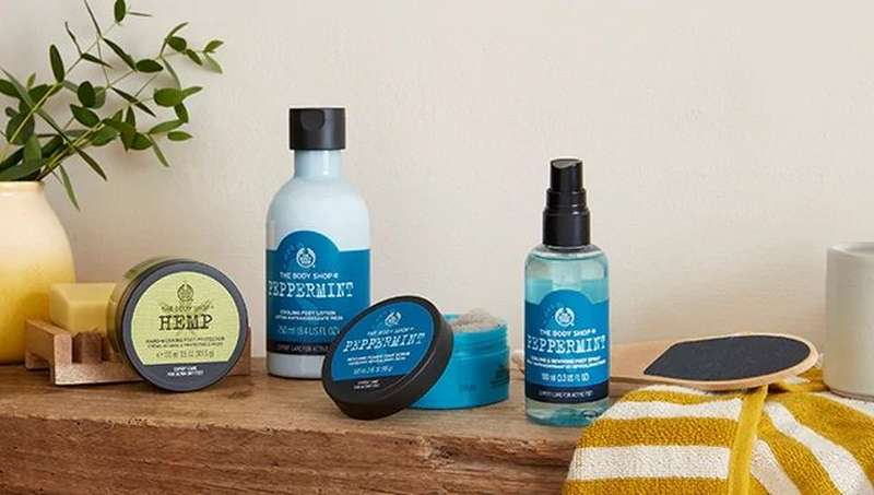 The Body Shop Peppermint products