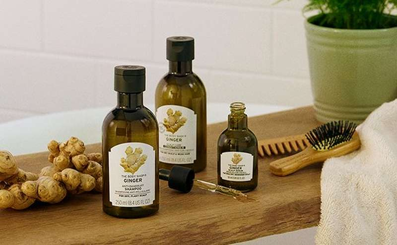 The Body Shop Ginger products